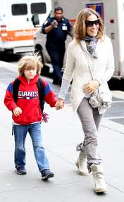 SJP and son, kids, parenting, mom