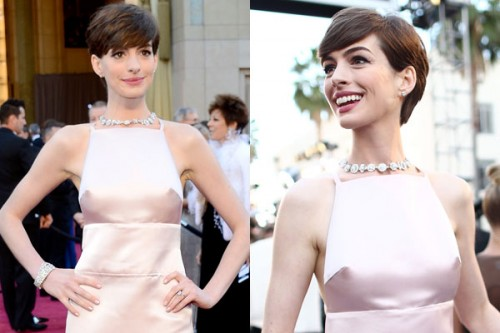 Anne Hathaway at the 2013 Academy Awards