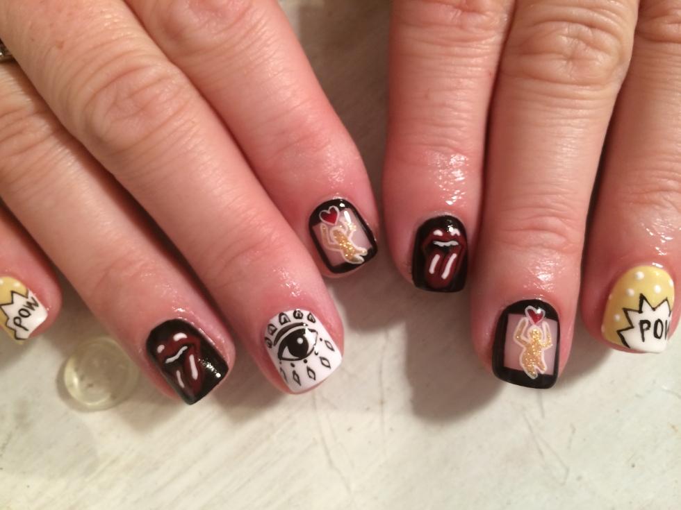 nail art, manicure, fingers, polish