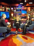 Andy Cohen, Rita Wilson and Jaqueline Laurita at Watch What Happens Live!